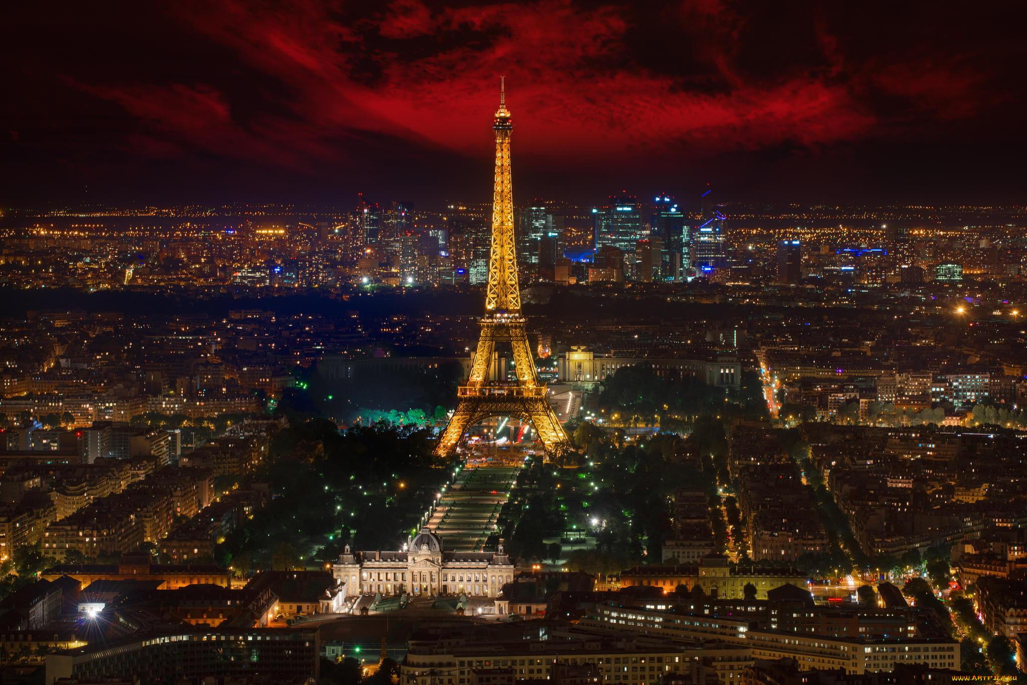фотообои на рабочий стол ночного города парижа этот